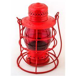 Red AmEx Co. Lantern