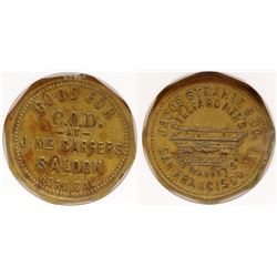 McCarger's Saloon Token (Strahle Pictorial) (Nord, California)