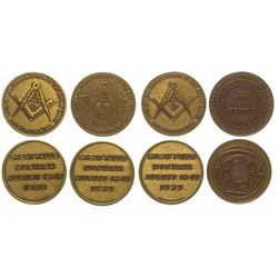 Four Great Falls Fraternal Tokens