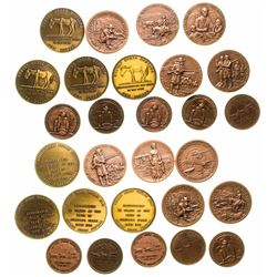 Group of Copper Plated and Bronze Montana Tokens