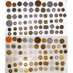 Lot of 63 Misc. Montana Tokens