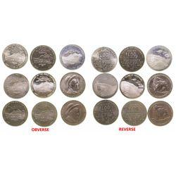 Nine Montana Medallions