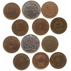 Montana Small Towns Fraternal Tokens