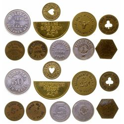 Group of 10 Various US Tokens