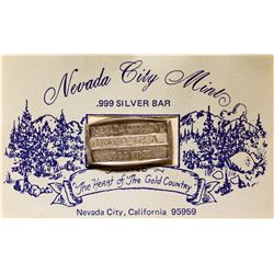 Nevada City Mint Silver Bar