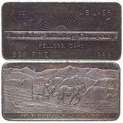 Sunshine Mining Company Silver Art Bar