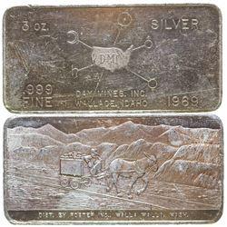 Day Mines, Inc. Silver Art Bar