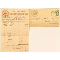 Sales Receipt from F.L. Grove, Gold Coin Commission House