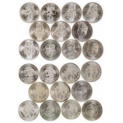 Eleven Uncirculated Mexican Silver Coins
