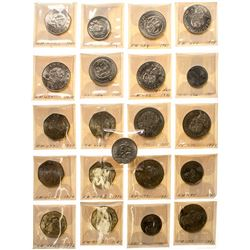 Large lot of Mexican coins
