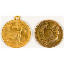 Pan. Pacific International Expo. Medals: HK-399 & HK-400