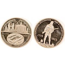1925 Lafayette Centennial Medal
