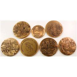 ANA: Seven Different Large Bronze Appreciation Medals