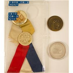 ANA 1909 Montreal Convention Badge Plus 1910 Medals