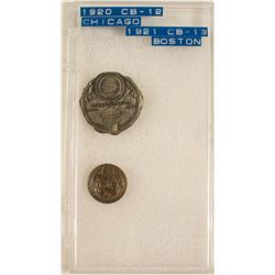 ANA 1920 & 1921 Convention Pin Backs