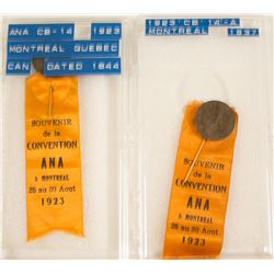 ANA 1923 Montreal Convention Badges