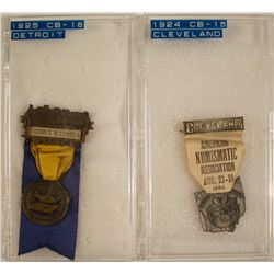 ANA 1924 & 1925 Convention Badges