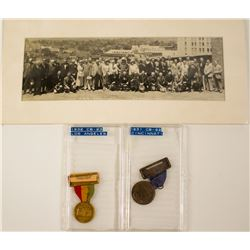 ANA 1931 & 1932 Convention Badges Plus a 1932 Photograph