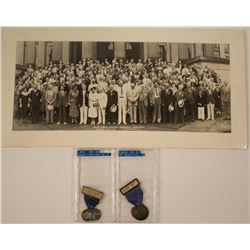 ANA 1936 Minneapolis Convention & 1937 Washington DC Convention Badges