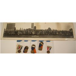 ANA 1938 & 1939 Convention Badges & Photograph