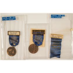 ANA 1942 & 1944 Convention Badges