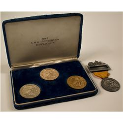 ANA 1947 Buffalo Convention Badges & Medals
