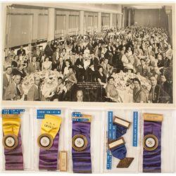 ANA 1951 Phoenix & 1952 New York Convention Badges (plus Photograph)