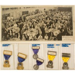 ANA 1955 Omaha Convention & 1956 Chicago Convention Badges (plus photograph)