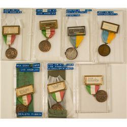 ANA 1957 Philadelphia & 1958 Los Angeles Convention Badges