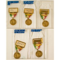 ANA 1958 Los Angeles Convention Gold Badges