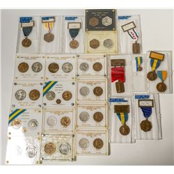 ANA Five Year Badges & Medals Set: 1965-1969