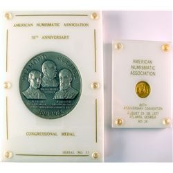ANA Congressional Silver Medal & Small Gold Medal