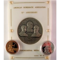 ANA Congressional Silver Medal plus Two Others