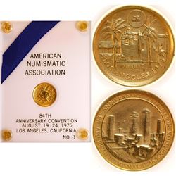 ANA 84th Anniversary Convention Gold Medal to Culver