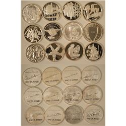 Large Hamilton Mint Silver Rounds Collection