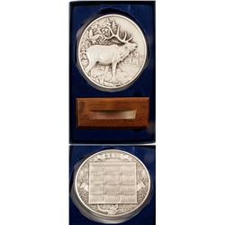 Hoffman Mint Elk Silver Medal (One Troy Pound)