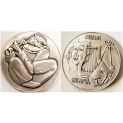 Society of Medalists: Clown with horn