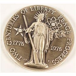 Two Centuries of Progress Silver Medal w/ Diamonds