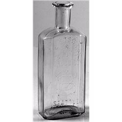 A. B. Stewart 8 Sided Medicine Bottle