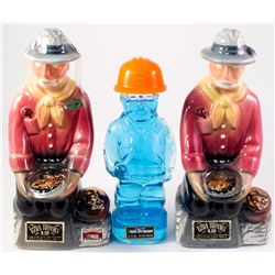 Collection of Three Mining Decanters