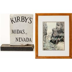 Marble Saloon Sign from Midas, Nevada