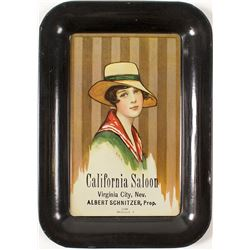 Extremely Rare California Saloon Tip Tray (Virginia City, Nevada)