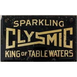 Rare Clysmic, Reverse Glass Sign