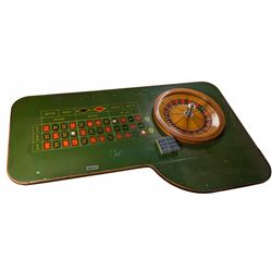 Antique Roulette Table Plus Gaming Chips