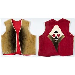 Handmade Sealskin & Leather Vest w/ Card Symbols