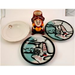 Four Ceramic Nevada Gaming Pieces