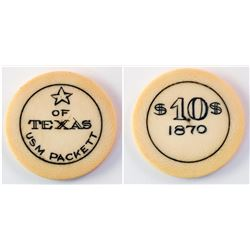 Star of Texas Ivory Gaming Chip