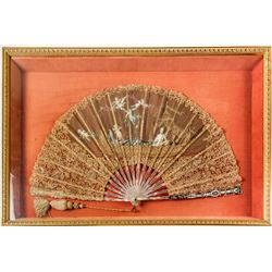 Mother of Pearl and Lace Fan