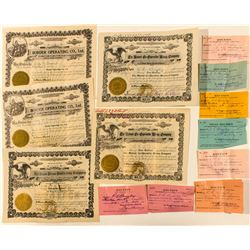 Miscellaneous Stock Certificates Group