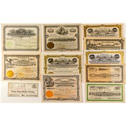 Miscellaneous US Stock Certificate Group (Mining, Oil, Water)